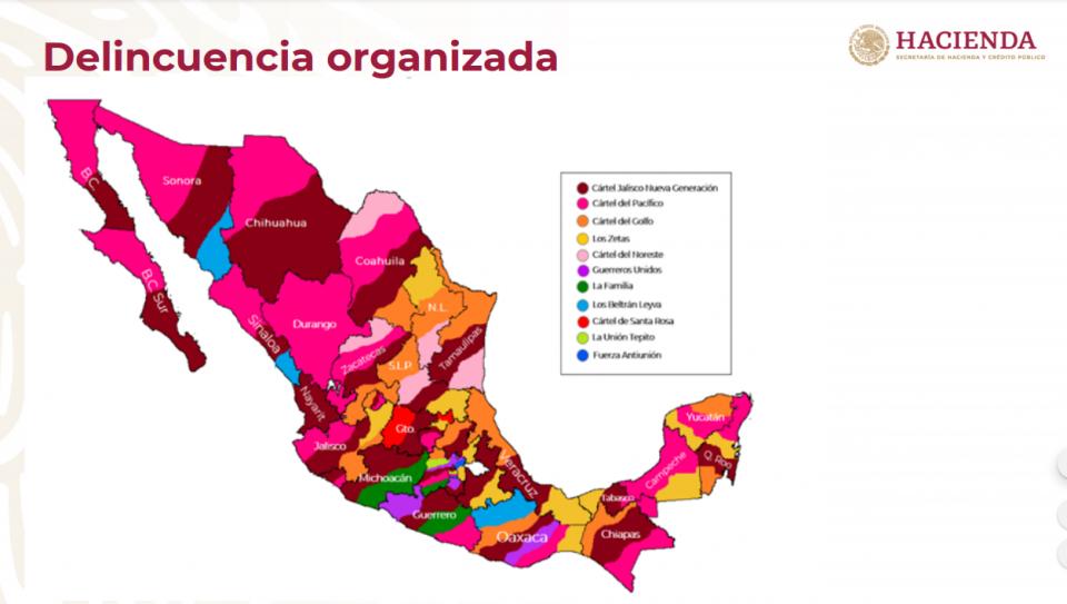mapa del narco
